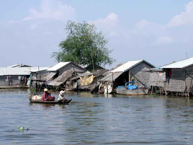 The floating village near the harbor