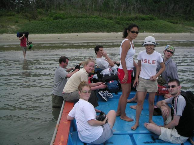 (Left to right) Paul (In the water), Ian, Anna, Nancy, Mike, Ji Hyun, Katie, Jeff, Emmett.