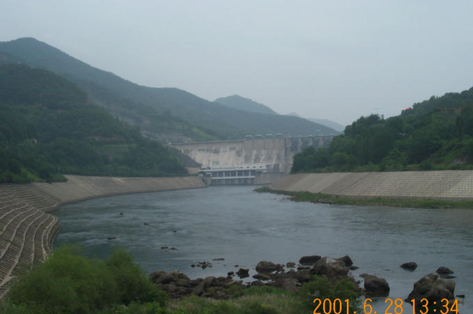 This is how the dam looks from the other side.