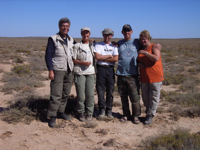 Our group at the confluence point. From Left to right: me, Netty, Alex, Folkert (Netty's husband) Yvonne (my wife)