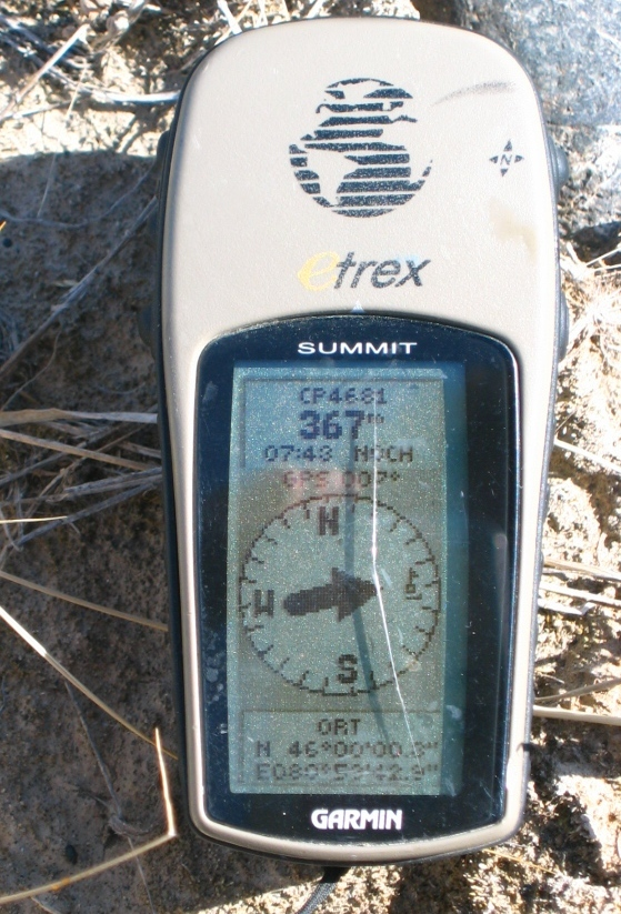 GPS Reading 367 m from the Confluence