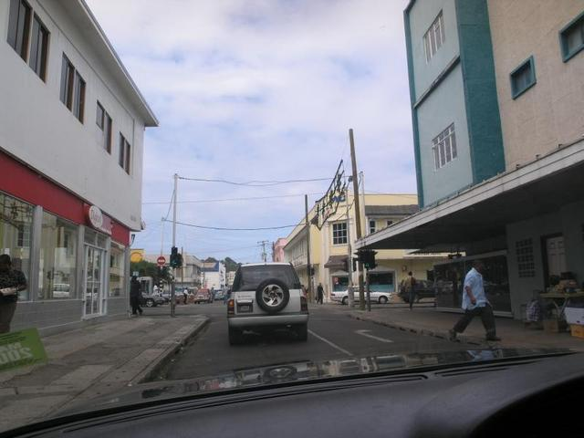 Driving through Castries
