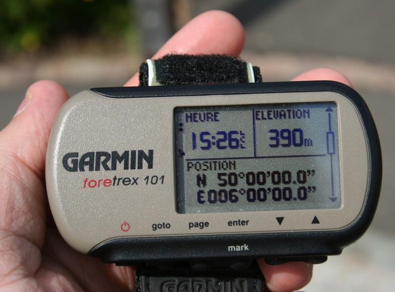 Our GPS with the coordinates
