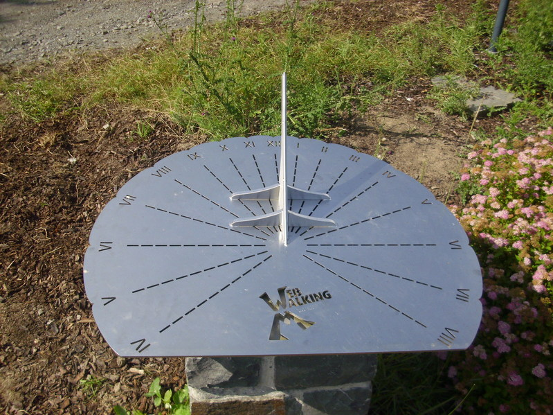 Sundial at the Confluence point