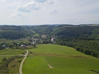 #11: View West (towards the village of Enscherange) from 50m above the point