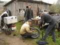 #8: Fixing a flat tire in Russia