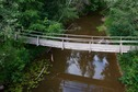 #8: A footbridge across the Riežupe river (next to the partially-collapsed road bridge)