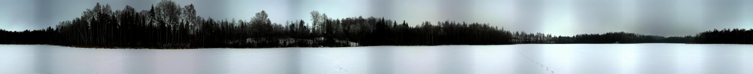 360° view from confluence point in the middle of lake