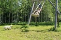 #7: wooden swing on the meadow near the lake