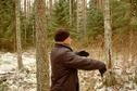 #4: West view. Yury points to an exact spot