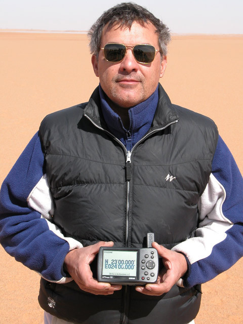 Massimo with the GPS receiver