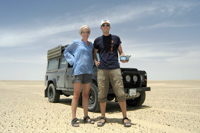 Conny and Martin in front of the Landy