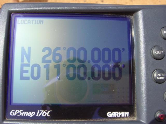 GPS display at the point