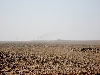 #1: North view: the Messak with the ENI operated Elephant Oil Field