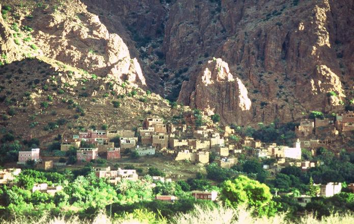 Typical village in the Valley of the Ammeln