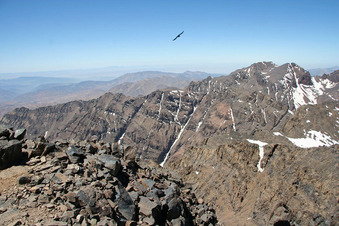 #1: View to the west from the summit of Jebel Toubkal.