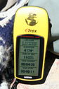 #3: GPS readout on the summit