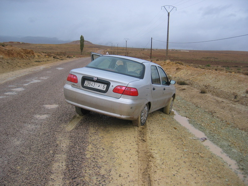 The car is bogged