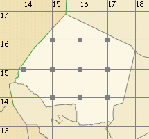 Kanem & Bahr el Gazel map