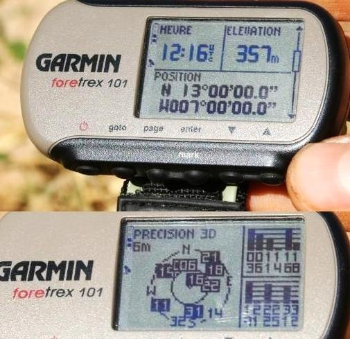 GPS with coordinates