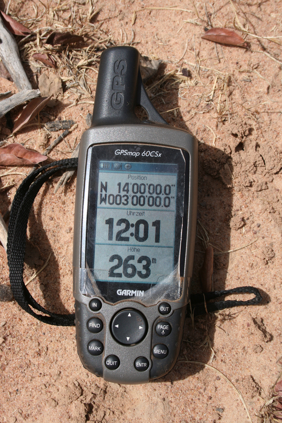 GPS on the sabkha ground