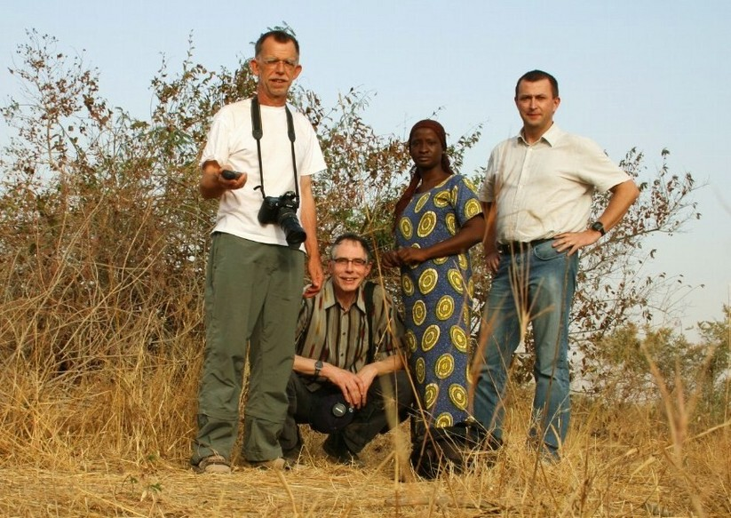 Our team: Leo, Frans, Oumou, and Jean-Luc (left to right)