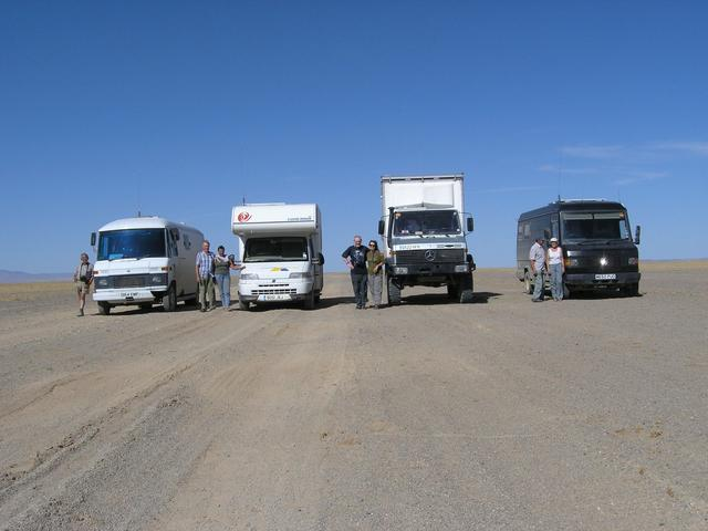 The group of four campervans.