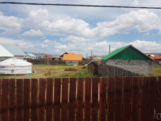 #1: View East-Northeast: Confluence inside frontyard of Mongolia homestay