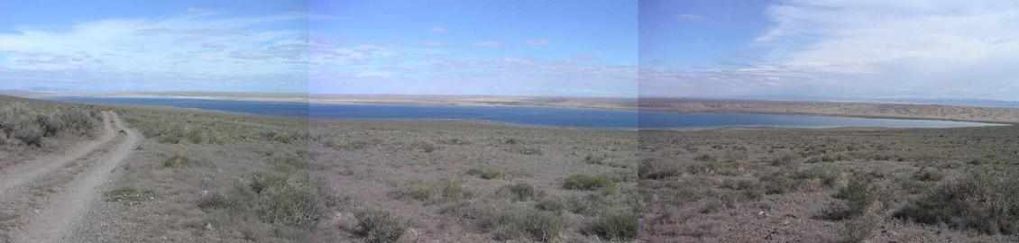 Panorama of Lake Bayanuur