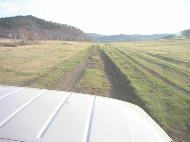 Typical Mongolian road