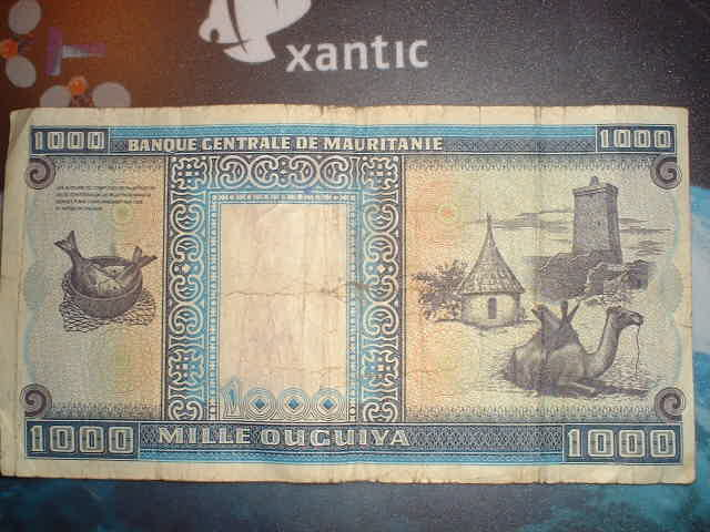 Fish on a Mauritanian banknote