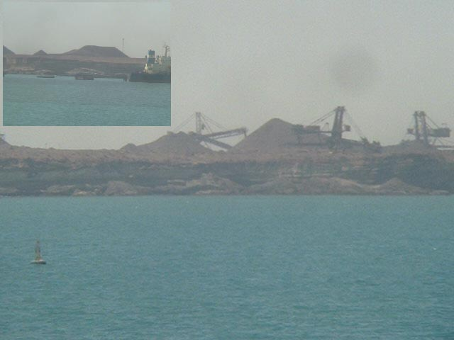 Iron ore ready to be shipped from Nouadhibou in all over the world