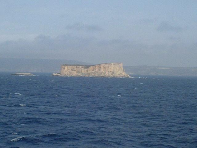 The small rock of Filfla SW of Malta