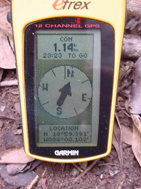 GPS Showing Lat&Lon