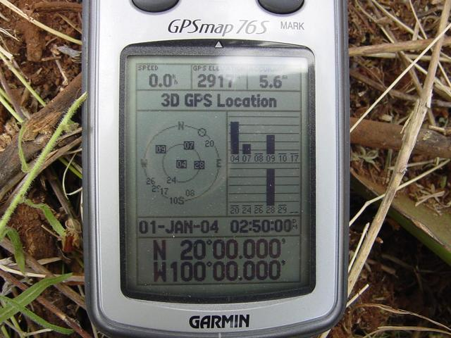 Our GPS reading