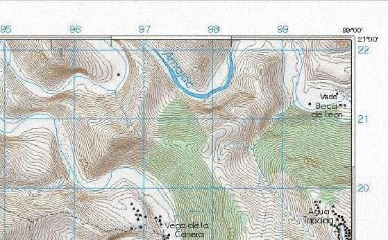 Topo map of the confluence area