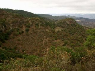 #1: The confluence is somewhere in this hillside