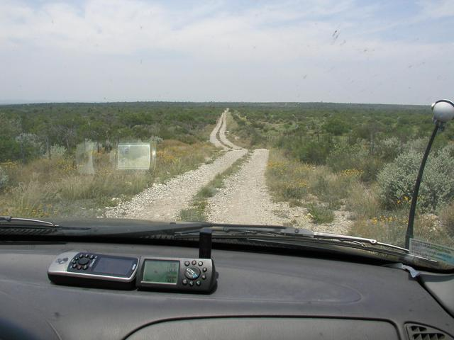 There was 20 miles of dirt road like this, muddy in spots.