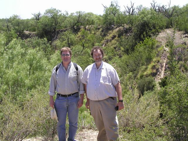 David Nelson (left) and Patrick Nobles (right) - Panoramic view of the area around the convergence point