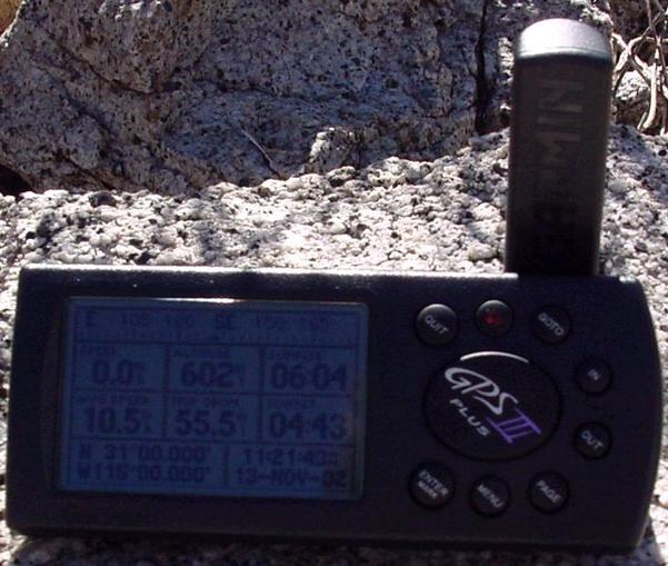 Photo of GPS Receiver at Confluence