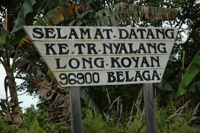 Sign for Long Koyan longhouse