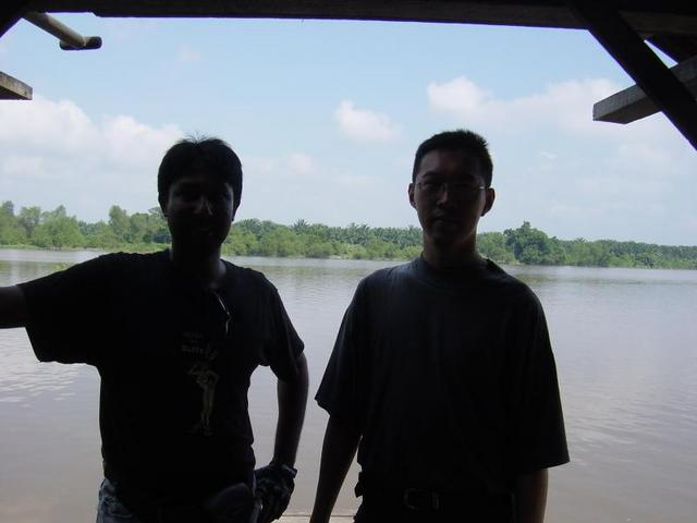 Myself and Andrew, with Sg Perak and the confluence in the background