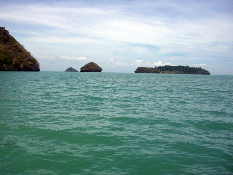 some islands in the Langkawi archipelago