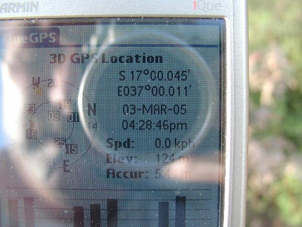 Picture of the proof (Garmin iQue 3200)