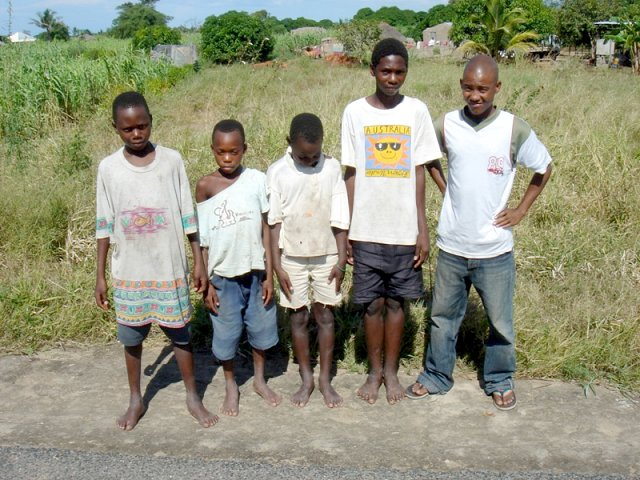 Some children from the area
