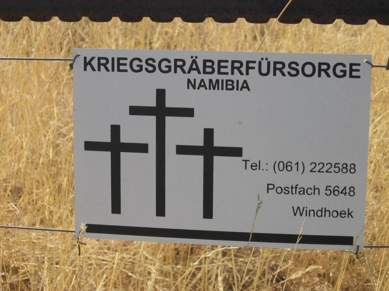 Sign for war graves