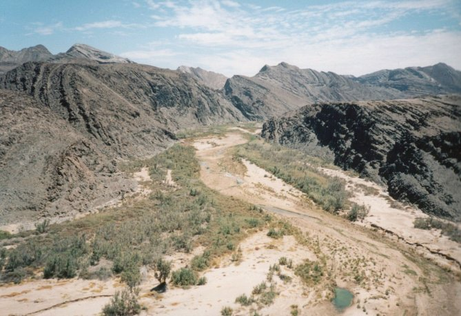 View from cliff over Ugab river