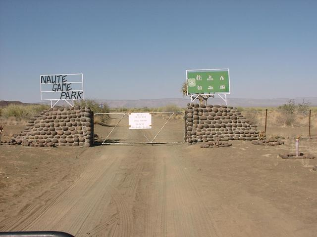 Gate to Naute Game Park