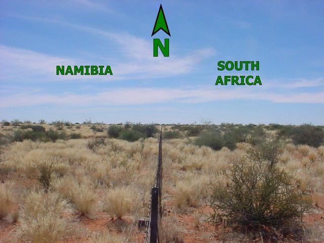 Namibian-South African border