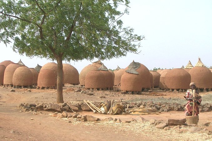 Granaries at the outskirts of a Hausa village